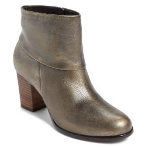 Cole Haan Cassidy Bootie Black Metallic Brush Off Ladies Ankle Boots | Cole Haan D40549 Blk Metallic Brush