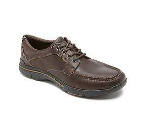 Rockport Men's City Play Moc Toe Oxford Chocolate 7