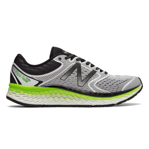 New Balance Men's M1080WB7 Running Shoe White/Energy Lime