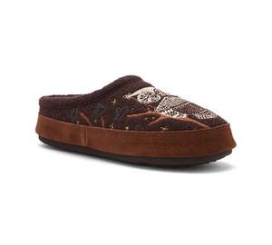 New Acorn Women's Forest Mule Slipper Chocolate