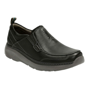 Clarks Men's Charton Step Slip On Black Leather | Clarks 14995 Black Leather
