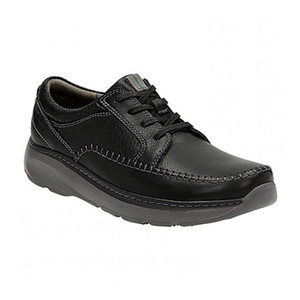 Clarks Men's Charton Vibe Casual Lace Up Black Leather | Clarks 14993 Black Leather