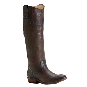 FRYE Carson Riding Button Dark Brown Ladies