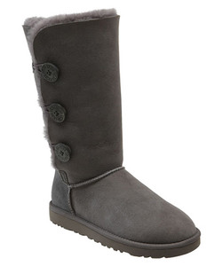 UGG Bailey Button Triplet Grey Ladies Boots