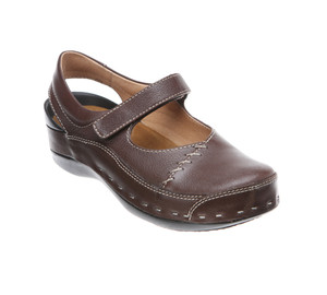 Wolky Women's Strap Cloggy Brown Pebbled | Wolky 6015330 Brown Pebbled