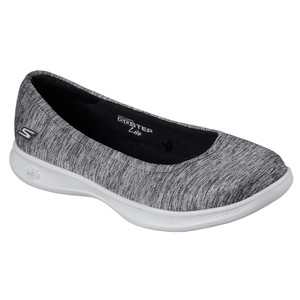 Skechers Women's Go Step Lite Streak Slip On Black/Gray