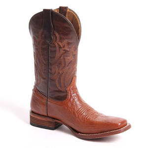 Circle G By Corral Men's Smooth Ostrich SQ Toe Western Boot Ant Saddle