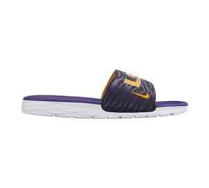 Nike Men's Benassi Solarsoft College LSU Tigers Blk/Gold/Purple