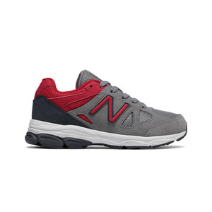 New Balance Boy's KJ888TRG Athletic Shoe Grey/Red