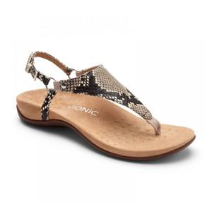 Vionic Women's Kirra Backstrap Sandal Natural Snake | Vionic Kirra Natural Snake