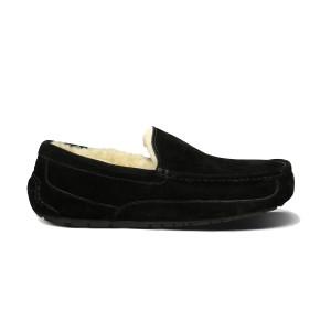 UGG Ascot Slipper Black Suede Mens 5775