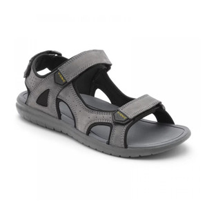 Vionic Men's Neil Sport Sandal Grey | Vionic Neil Grey