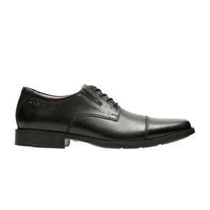 Clarks Men's Tilden Cap Toe Dress Shoe Black Leather | Clarks 10309 Black