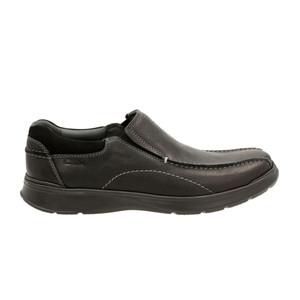 Clarks Men's Cotrell Step Slip On Black Oily Leather | Clarks 19615 Blk Oily