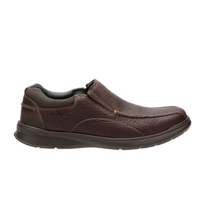 Clarks Men's Cotrell Step Slip On Brown Oily Leather | Clarks 19614 Brown Oily
