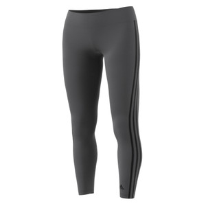Adidas Women's Designed 2 Move 3 Stripe Long Tight Pant Grey Five/Black | Adidas CF2302 Grey Five/Black