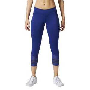 Adidas Women's Climalite Mesh-Trimmed 3/4 Tight Pant Mystery Ink