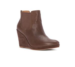 Corso Como Women's Coast Bootie Taupe Tumbed Leather