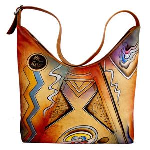 Anuschka Women's 7014 U-Top Tote Abstract | Anuschka 7014 A