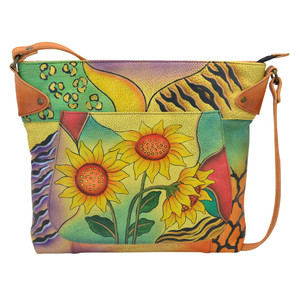Anuschka Women's 8037 Convertible Tote Sunflower Safari | Anuschka 8037 SFS