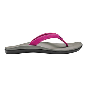 Olukai Ho'opio Girls Flip Flop Grape Juice/Pale Grey | Olukai 30131-GKPG Grape/Grey
