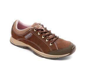 Rockport Women's Sidewalk Expressions Chranson Sneaker Ebano Nubuck 5 | Rockport M75539 Ebano Nubuck