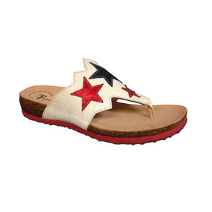 Think Women's Julia Star Thong Sandals Shell/Kombi | Think 82334 N29 Shell/Kombi