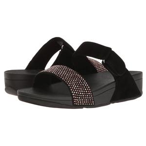 Fitflop Women's Lulu Popstud Slide Black | Fitflop I21-001 Black
