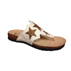 Think Women's Julia Star Thong Sandals Shell