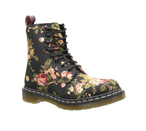 Dr Martens Women's 1460 Boot Black Victorian Flowers