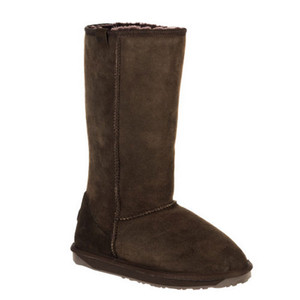 EMU Stinger Hi Shearling Boots Chocolate