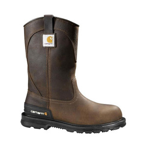 "Carhartt Men's Wellington 11"" Unlined Work Boot Dark Brown 
