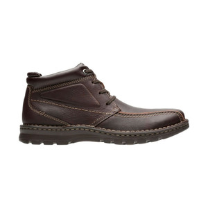 Clarks Men's Vanek Rise Ankle Boot Brown Oily Leather | Clarks 28416 Brown