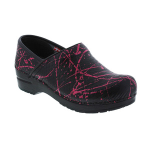 Sanita Women's Original Professional Primrose Clog Black/Pink
