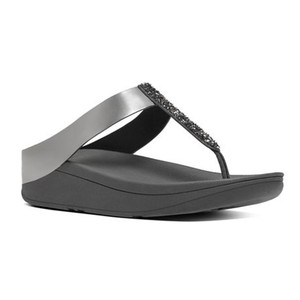 Fitflop Women's Fino Toe Post Thong Pewter | Fitflop C89-054 Pewter