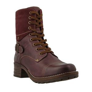 Taos Women's Crave Combat Boots Bordeaux | Taos CRV 5514 Bordeaux