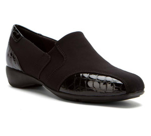 Clarks Women's Noreen Will Slip Ons Black Fabric