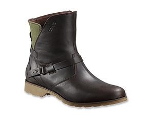 Teva Women's De La Vina Low Leather/Canvas Boot Brown/Green