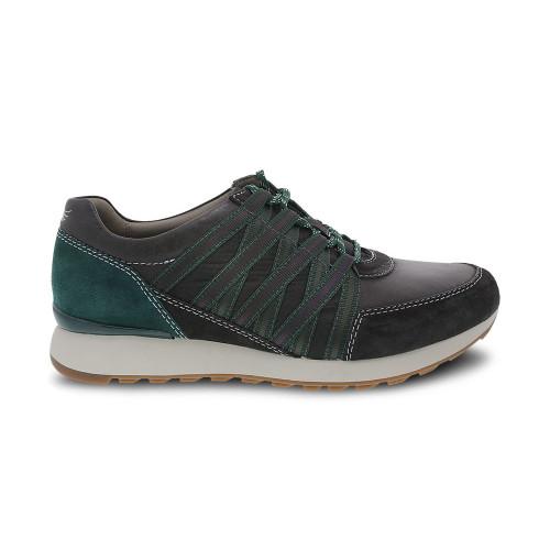 Dansko Women's Gabi Sneaker Charcoal Burnished Nubuck - Shop now @ Shoolu.com