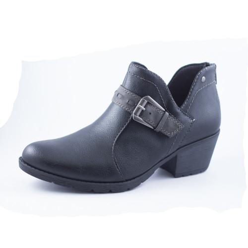 Earth Origins Women's Ariel Ankle Bootie Black PU - Shop now @ Shoolu.com