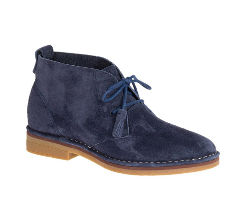Hush Puppies Women's Cyra Catelyn Chukka Boot Navy Suede - Shop now @ Shoolu.com