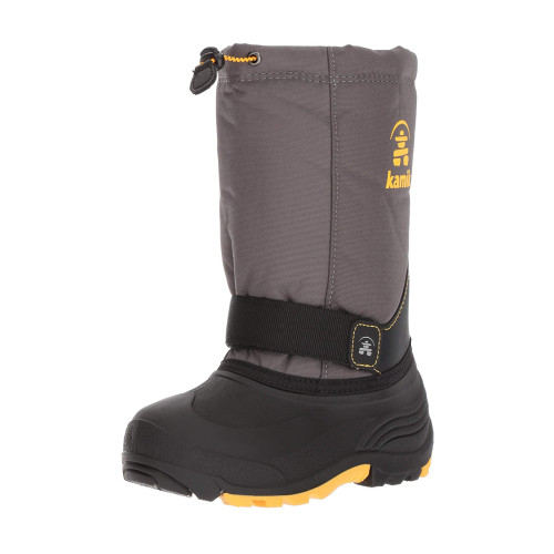 Kamik Boy's Rocket Winter Boot Charcoal/Yellow - Shop now @ Shoolu.com
