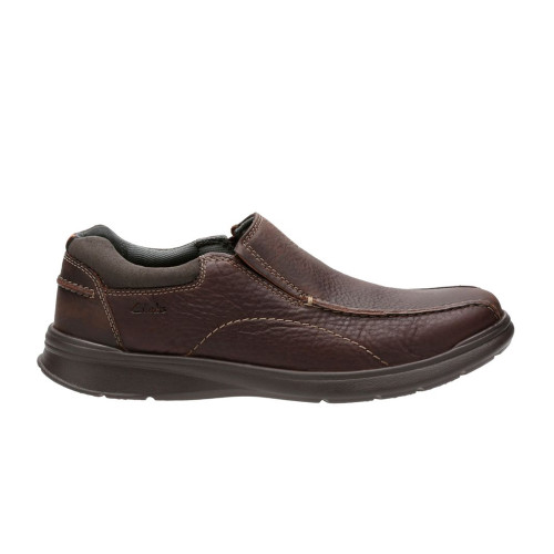 Clarks Men's Cotrell Step Slip On Brown Oily Leather - Shop now @ Shoolu.com