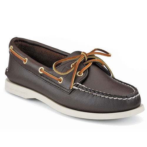 Sperry A/O Brown Leather - Shop now @ Shoolu.com