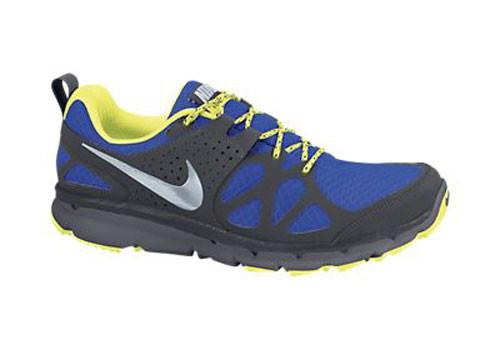 nike  flex tracce iper  blu / antracite mens scarpe da corsa