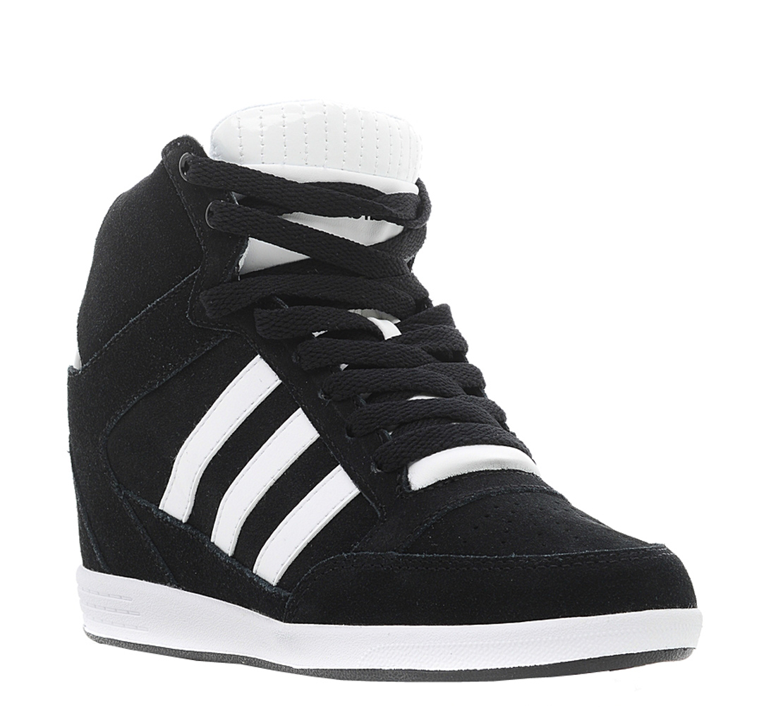 05fcaae88ae ... shoes white west0560 4b777 a87b4  top quality adidas neo womens super  wedge sneaker core black white shop now shoolu. 0d944
