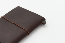 The leather ages beautifully as time goes on. Traveler Notebook, Passport, Brown leather