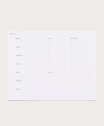 Appointed Weekly Task Desk Pad