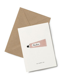 My Number One. A romantic gesture in a Greeting Card from Kartotek Copenhagen, blank interior, comes with envelope