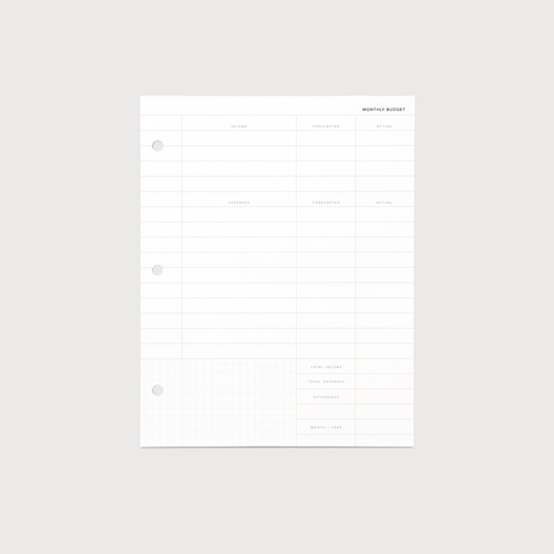 Binder Planner Inserts for the Appointed Binder Planner - Budget Planning Inserts 20pgs